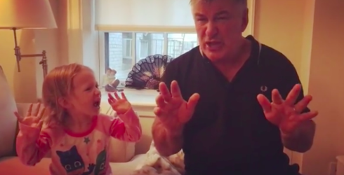 Alec Baldwin Taught His 3-Year-Old Daughter to Impersonate Trump and It's Hilarious