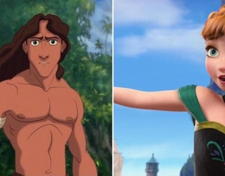 """""""Frozen"""" Director Confirms Tarzan Is Anna and Elsa's Little Brother"""