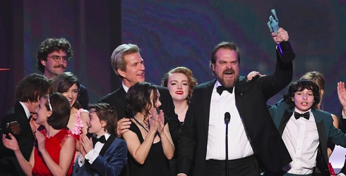 """David Harbour's """"Stranger Things"""" Acceptance Speech at the SAG Awards Sent a Poignant Message"""