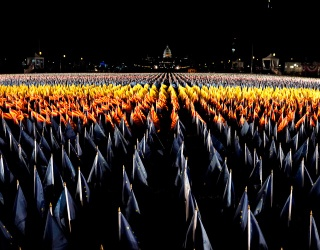 National Mall Transforms Into a Field of Flags In Lieu of Crowds on Inauguration Day