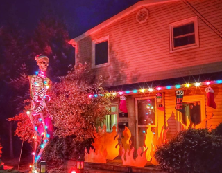 The Home Depot Skeleton Has Transformed to Reflect the Season