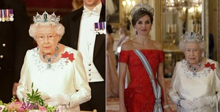 The Queen Brought Her Jewelry A-Game to Last Night's State Dinner