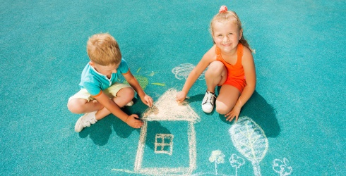 10 Ways to Win at Warm Weather Social Distancing Simply by Using Sidewalk Chalk