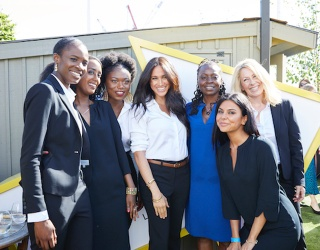 """Meghan Markle Gets """"Smart"""" for a Great Cause"""