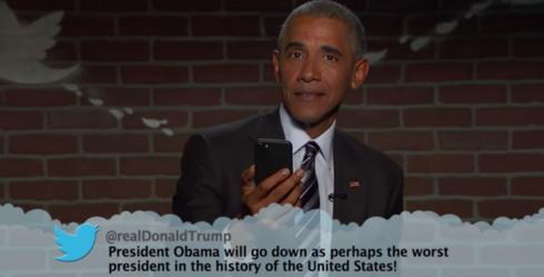 "Watch President Obama Read Mean Tweets on ""Jimmy Kimmel Live!"""