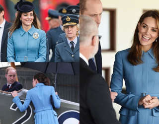 Match These Pics of Kate Middleton's Magical Blue Coat