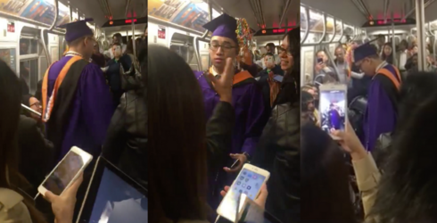 New Yorkers Throw Graduation Ceremony for Student Stuck on Delayed Subway Train