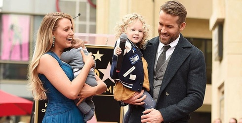 Ryan Reynolds Gets Star on Hollywood Walk of Fame, Daughter James Steals the Show