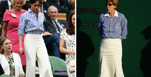 I Can't Decide if I Love Meghan Markle's Wimbledon Outfit or If She Looks Like a Line Judge