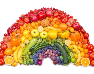 Don't Get Lost Putting Back Together This Colorful Fruits and Veggie Rainbow Puzzle