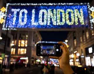 London's Oxford Street Lights up the Holidays With a Sweet Tribute