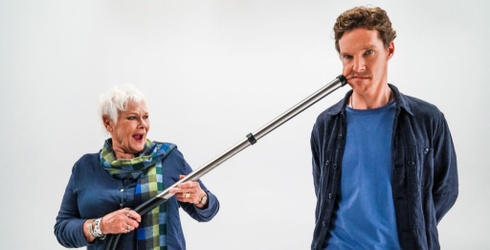 Judi Dench Suctions Benedict Cumberbatch's Cheek in the Name of Comedy