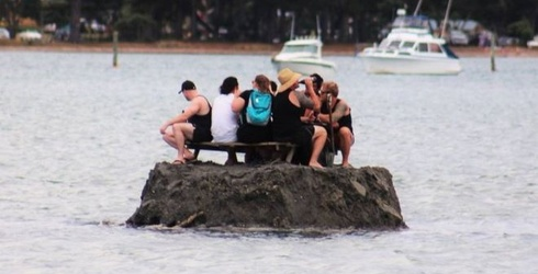 Creative New Zealanders Build Makeshift Island, All in the Name of Drinking Outdoors