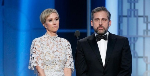 Kristen Wiig and Steve Carrell Saved the 2017 Golden Globes From Being One Giant Nap
