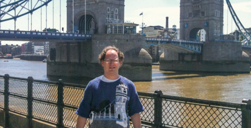 This Guy Knits Sweaters of Famous Places & Then Wears the Sweater to the Famous Place