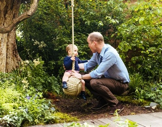 Unscramble This Photo of Prince Louis Having a Swinging Time