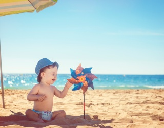Can You Match These Beach Babies Getting Their Tans On?
