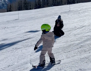 Already Famous: Stormi Already Knows Her Way Around a Snowboard