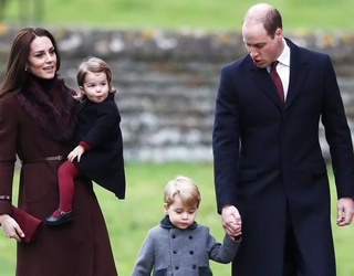 Will, Kate, Charlotte and George Attend Christmas Mass With the Middletons