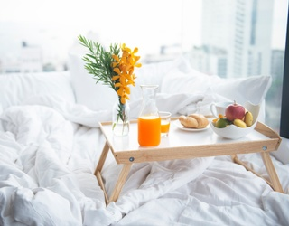 No Need to Get up to Complete This Breakfast in Bed Memory Match