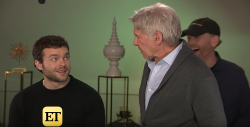 """Harrison Ford Crashes Interview with """"Solo"""" Actor Alden Ehrenreich, Rips Hole in Space-Time Continuum"""