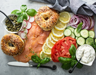 Bagel Charcuterie Boards Are a Thing, so I Guess We're All in Heaven Now
