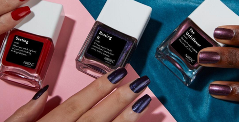 """These Mani Mantra Nail Polish Shades Give """"Talk to the Hand"""" a Whole New Meaning"""