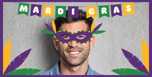 Celebrate Mardi Gras In True Party Fashion With This Festive Face-in-Hole!