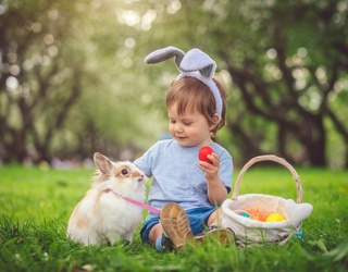 Hop to It! Match These Kids in Bunny Ears Because They're Too Darn Cute