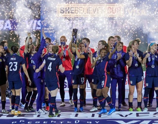 It Was Fireworks for the USWNT After They Scored the SheBelieves Tournament Cup