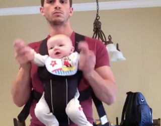 """Dad Makes Baby Dance To """"Beat It,"""" Never Cracks a Smile"""