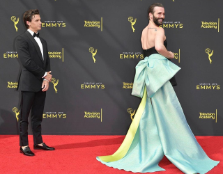 Which Red Carpet Giant Bow Would Make You Feel as Fabulous as Jonathan Van Ness?