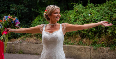 This Bride Isn't Letting Her Wedding Gown Waste Away in the Back of a Closet