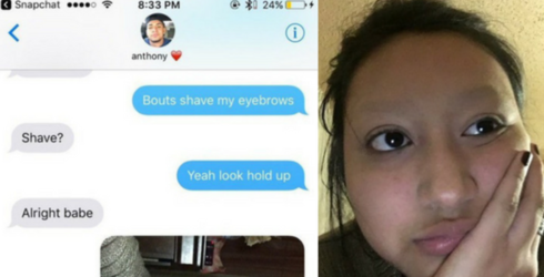 Savage Teen Tricks Her Boyfriend Into Thinking She Shaved off Her Eyebrows