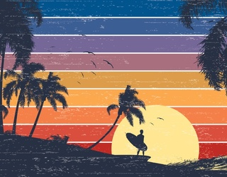 Chase the Sunset All the Way to Summer With the Surfer Bro in This Puzzle