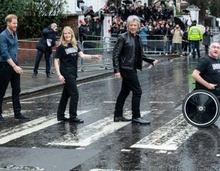 Prince Harry and Bon Jovi Walk the (Beatles Crossing) Walk