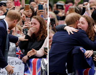 """Prince Harry Hugs a Hysterical Fan in Melbourne, Internet Screams a Collective """"YASSS, GIRL!"""""""