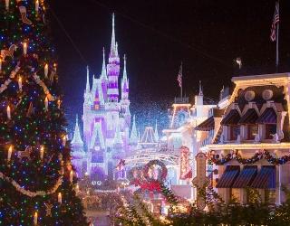 Unscramble This Christmas-Covered Disney World Photo
