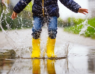 Monday Memory Madness: Oh, to Be a Child Jumping in a Puddle