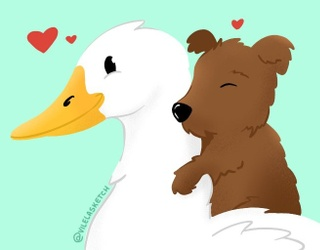 Need Serotonin? This Video of a Puppy Snuggling a Duck Should Do the Trick