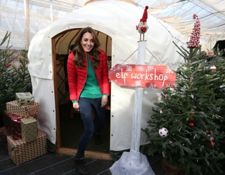 Unscramble This Photo of Kate Middleton Sneaking out of the Elf Workshop