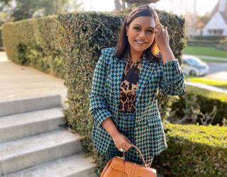 On Trend: Mindy Kaling Just Gave Us a Master Class in Mixing Prints
