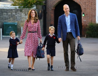 Princess Charlotte and Her Sparkly Unicorn Start Their First Day of School