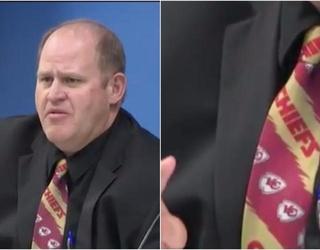 Nevada Commissioner Wears Kansas City Chiefs Tie For O.J. Simpson Parole Hearing