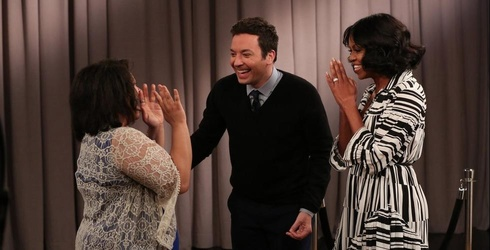 Michelle Obama Surprises Grateful Americans With a Little Help From Jimmy Fallon