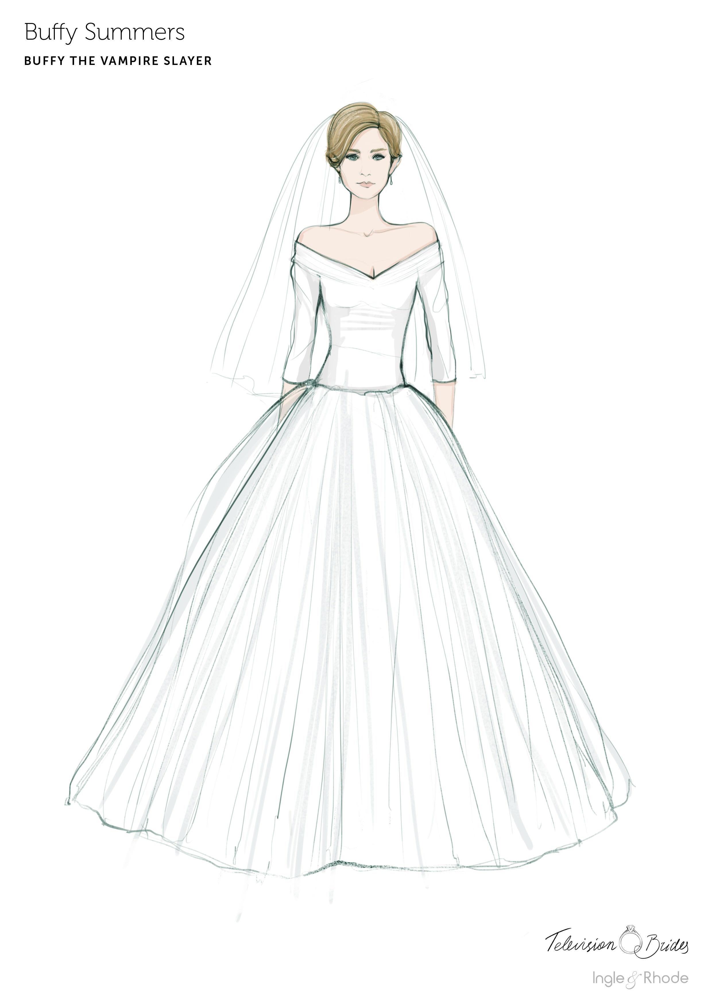 U K Jeweler Sketches Fan Favorite Wedding Dresses