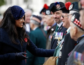 Meghan Markle Duchess'd the Heck out of Today's Field of Remembrance Ceremony
