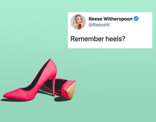 """Tweets of the Week: Reese Witherspoon Asks """"Remember Heels?"""""""