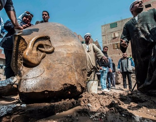 An Ancient Egytian Pharaoh Statue Was Just Discovered Buried in the Mud