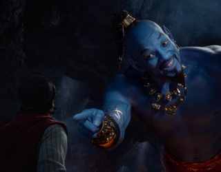 Blue Will Smith as the Genie Is Stressing Everyone Out